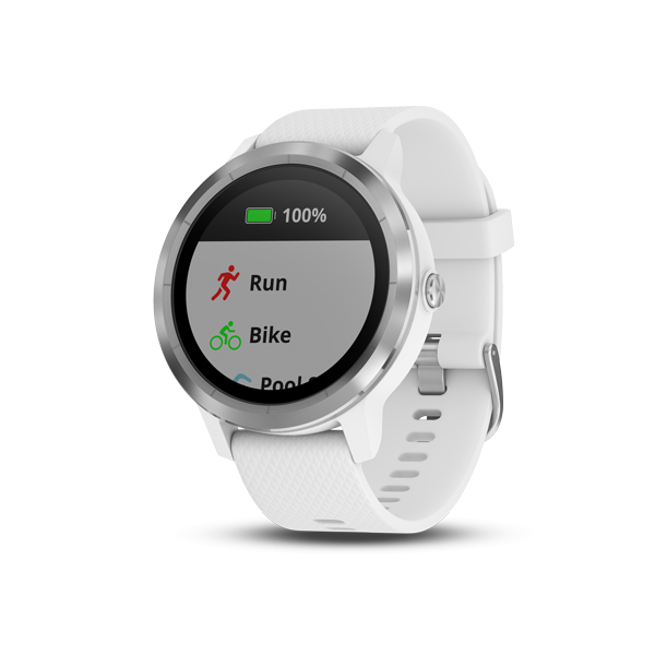 41989cd8a GARMIN Smart hodinky VÍVOACTIVE 3 White Silicone/Stainless Steel 010 ...