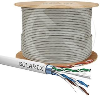 SOLARIX kábel CAT6 FTP PVC Eca 500m/cievka