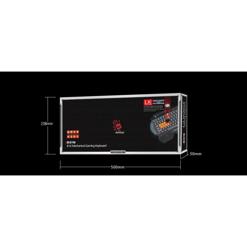 A4Tech BLOODY B318 Klávesnica USB CZ