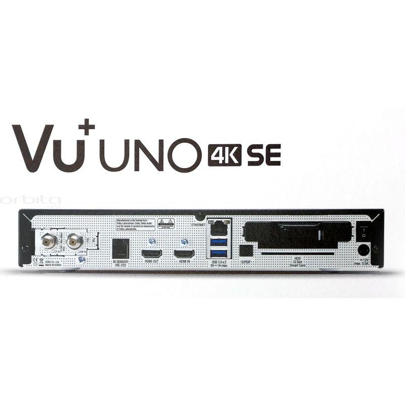 1136c5690 VU+ UNO 4K SE Satelitný prijímač (1x Duálny satelitný FBC tuner DVB ...