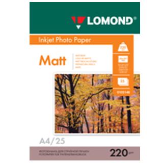 LOMOND Fotopapier matný, 220 g/m2, A4, 25 hárkov