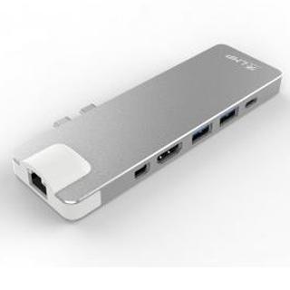 LMP USB-C Dock 8-port - Silver Aluminium