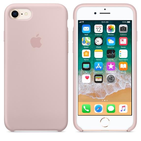 APPLE Silikónové púzdro pre iPhone 8/7 Pink Sand