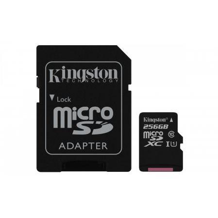 KINGSTON Micro SDXC 256GB UHS-I + adaptér