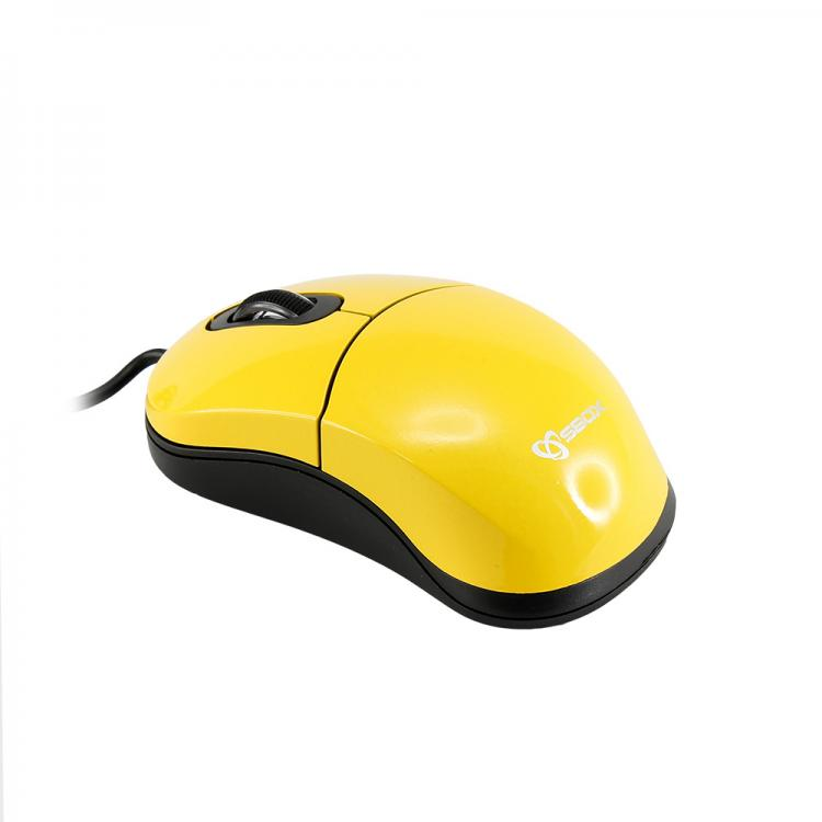 SBOX 3D Optická myš drôtová M-900Y žltá