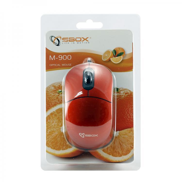 SBOX 3D Optická myš drôtová M-900O oranžová