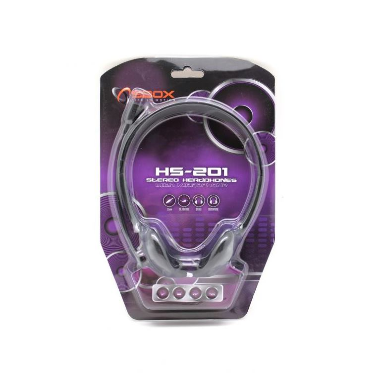 SBOX HS-201 Slúchadlá s mikrofónom