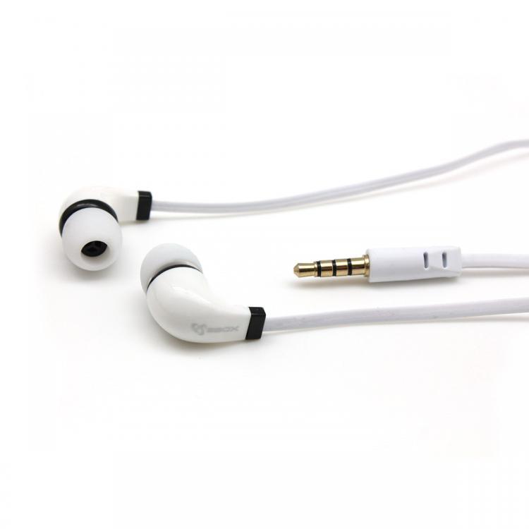 SBOX EP-038W Slúchadlá do uší s mikr. Biele