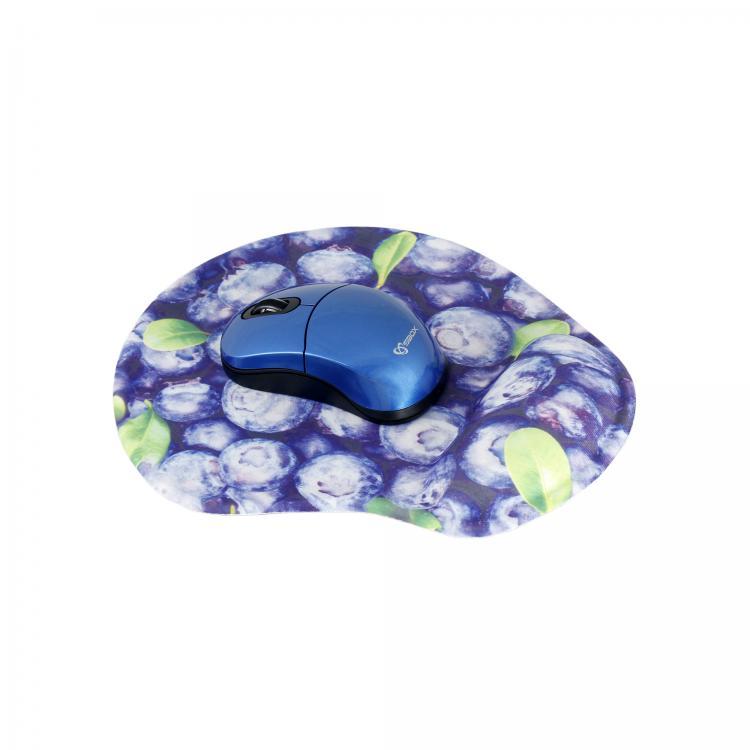 SBOX 3D Optická bezdrôtová myš blu + podložka