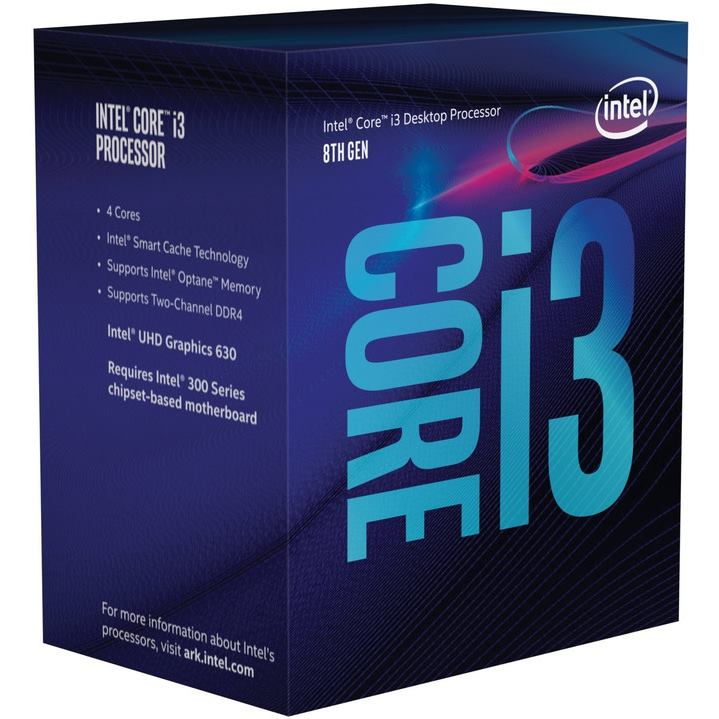 INTEL Core i3-8300 (8M Cache, 3.70 GHz) BOX