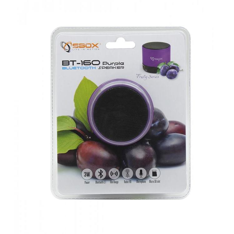 SBOX Bluetooth reproduktor purple BT-160U