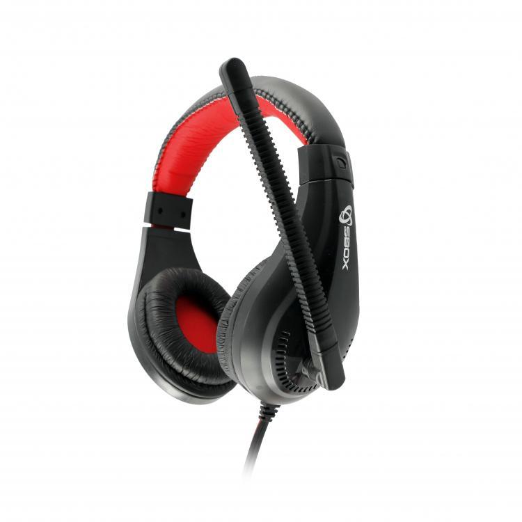 SBOX Slúchadlá s mikrofónom blk/red HS-1520