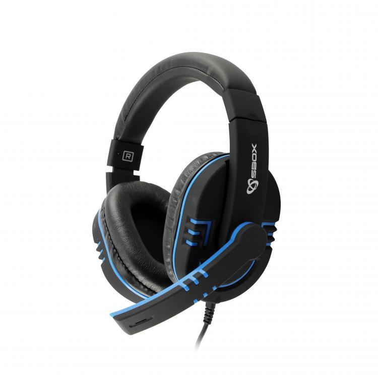 SBOX Slúchadlá s mikrofónom blk/blu HS-401BBL