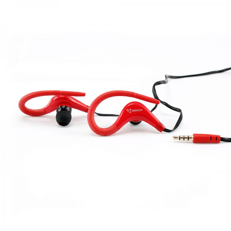 SBOX EP-338R Slúchadlá do uší SPORT red/blk