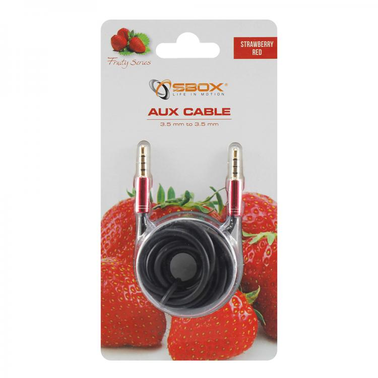 SBOX 3535-1,5R, Kábel 3,5mm jack/jack 1,5m red