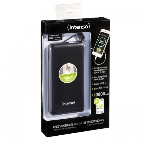 INTENSO SLIM Powerbanka 10000 mAh black