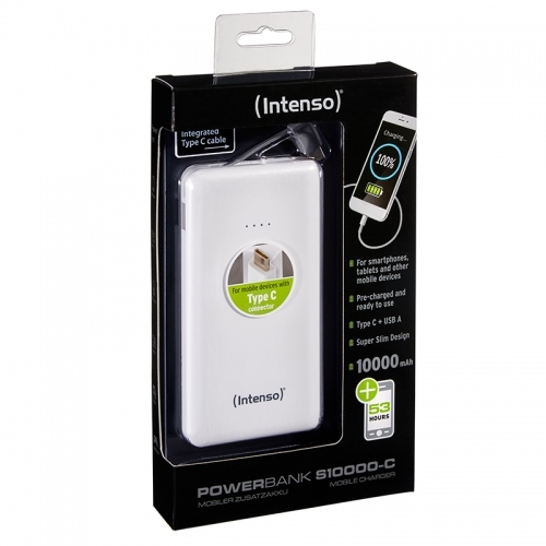 INTENSO SLIM Powerbanka 10000 mAh white