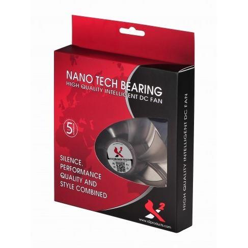 X2 Ventilátor 120N Nano-tech LED Blue