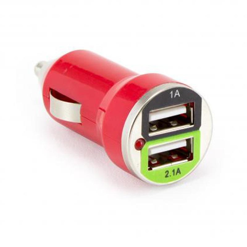 SBOX Autonabíjačka 2x USB 2.0 CC-221R red