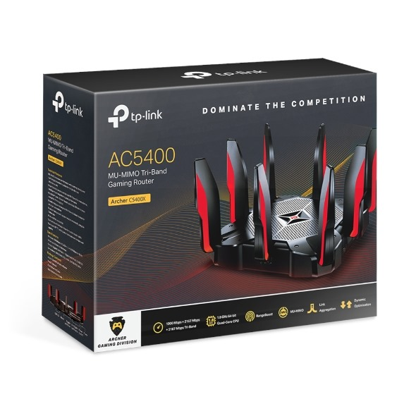 TP-Link Archer AC5400X MU-MIMO Tri-Band Gaming Rou