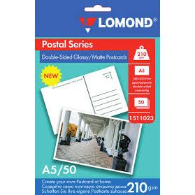 LOMOND pohľadnica lesklý, 210 g/m2, A6, 10 há