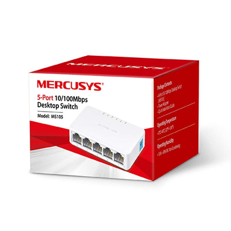 MERCUSYS 5-Port 10/100Mbps Desktop Switch MS105