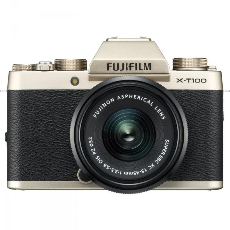 FUJIFILM X-T100 zlatý (telo) + XC 15-45mm II