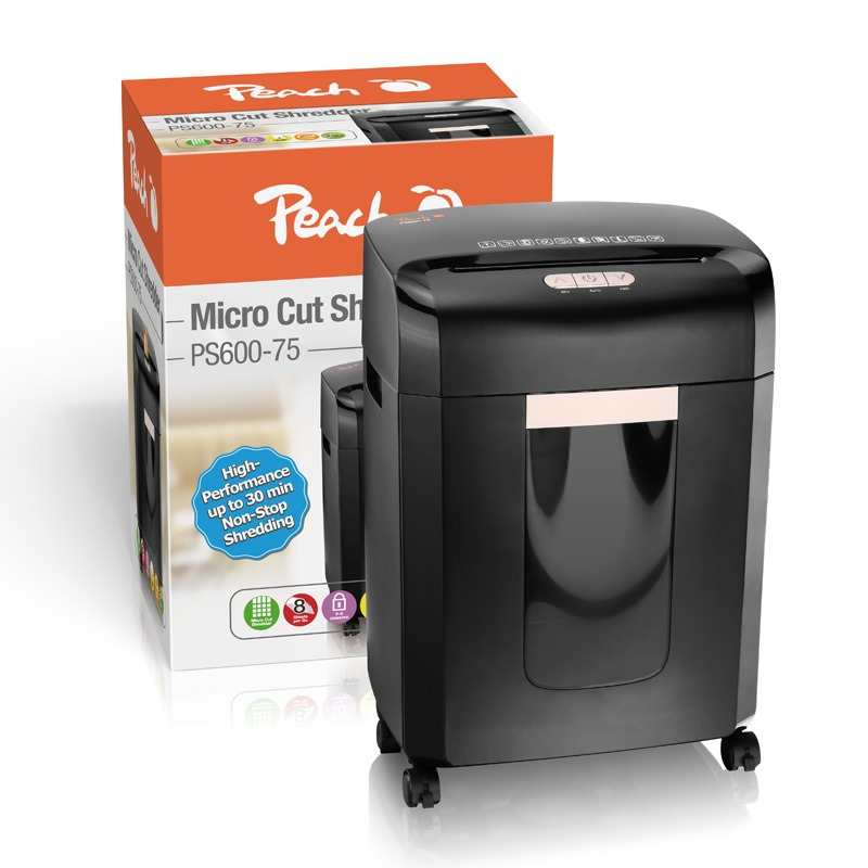PEACH Skartovač Micro Cut Shredder PS600-75