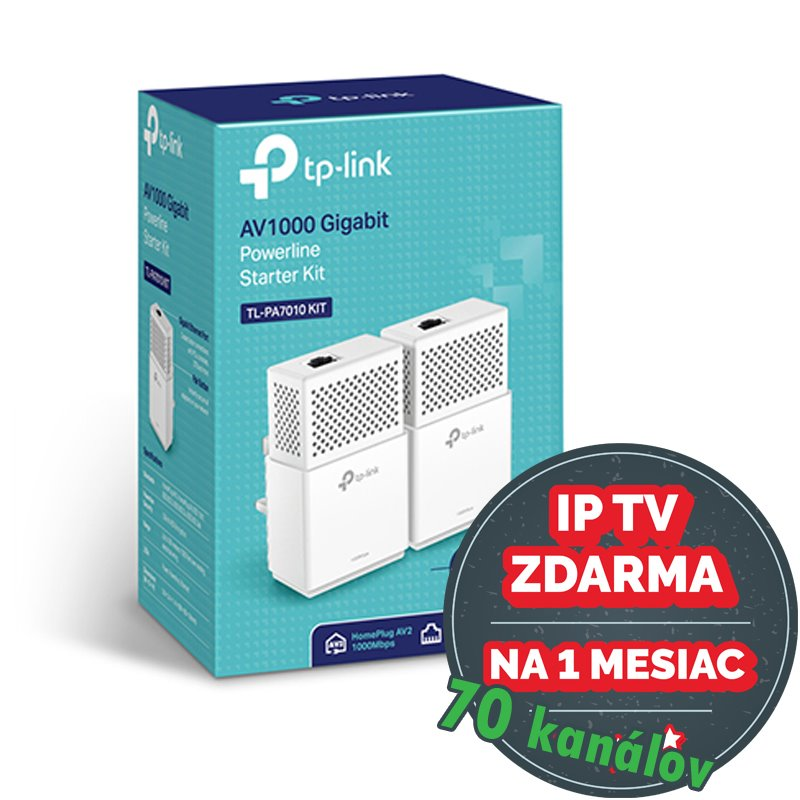TP-Link TL-PA7010KIT AV1000 1-Port Gigabit