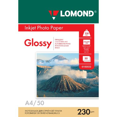 LOM - Photo Inkjet Glossy 50x230g/m2 A4 0102022