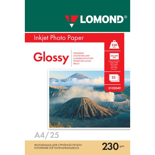 LOM - Photo Inkjet Glossy 25x230g/m2 A4 0102049