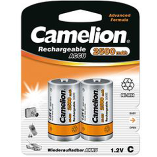 CAMELION Batérie nabíjateľné C 2ks NI-MH R14/C 250