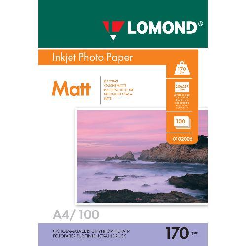 LOM - Pho Inkj Matt 170g/m2 100/A4 DS 0102006