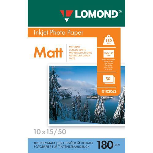 LOM - Pho Inkj Matt 180g/m2 50/10x15 0102063