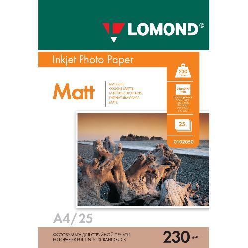 LOM - Pho Inkj Matt 230g/m2 25/A4