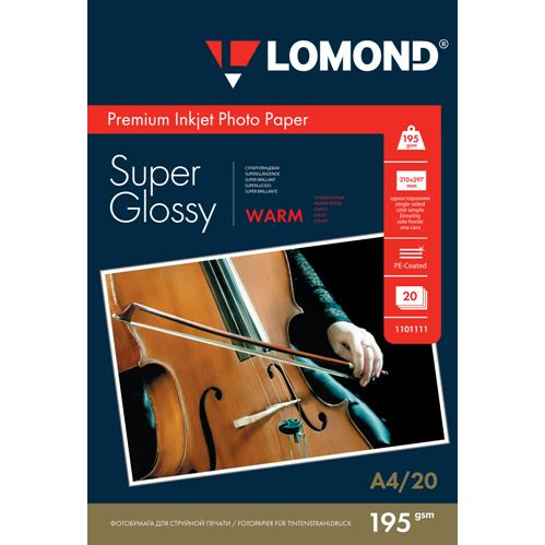 LOM - Premium Ph Super Glossy 195g/m2 A4/20 Warm