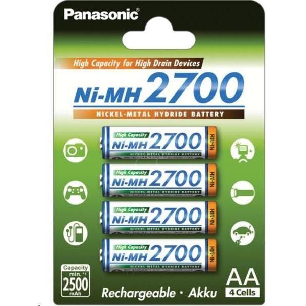PANASONIC BK-3HGAE, Batérie, AA, 1.2V, 4ks