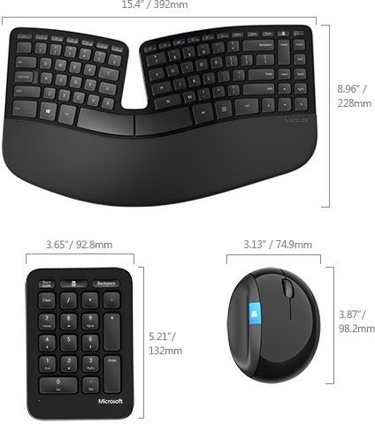 MICROSOFT Sculpt Ergonomic Desktop Wireless
