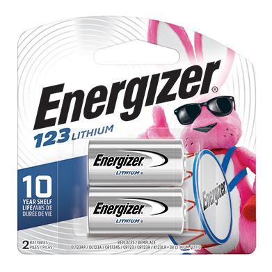 ENERGIZER 123, Batérie, 3V, CR123, 2ks