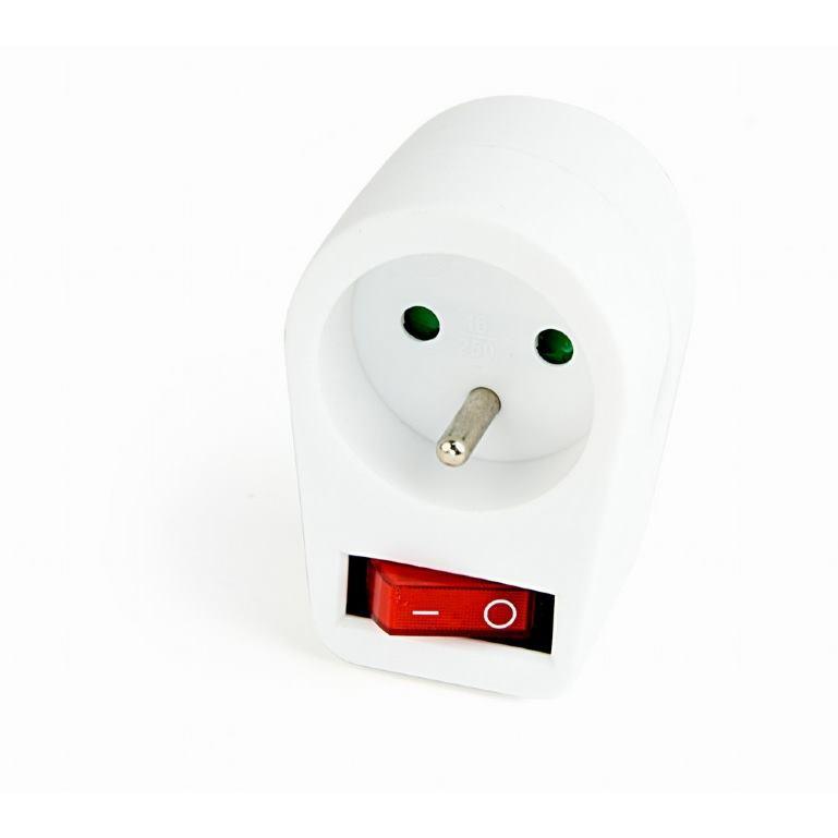 GEMBIRD Priechodná zásuvka s vypínačom