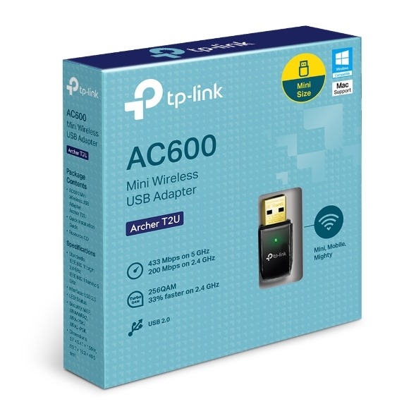 TP-Link Archer T2U AC600 Wireless Dual Band USB A
