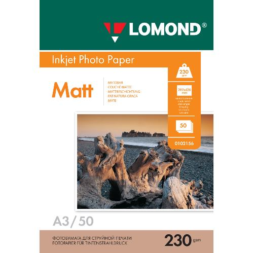 LOM Pho Inkj Matt 230g/m2 50/A3 0102156