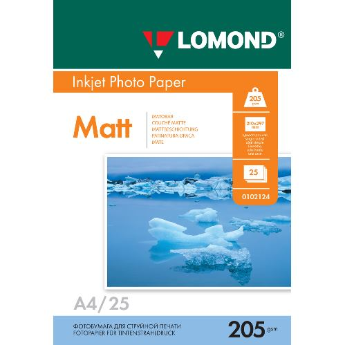 LOM Photo Inkjet Matt 205g/m2 A4/25 0102124