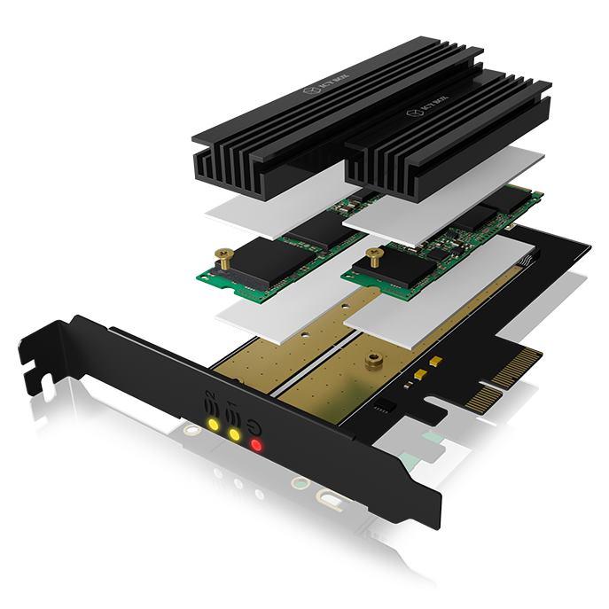 RAIDSONIC ICY BOX PCIe karta 1xM.2 NVMe+1xPCIe