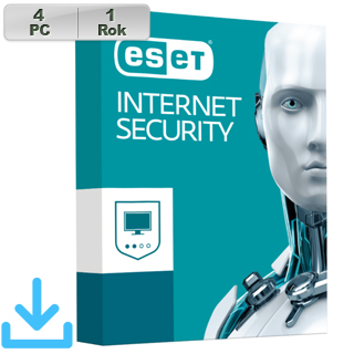 ESET Internet Security 2019 4PC na 1r E.lic