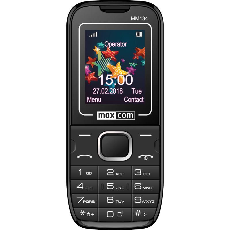 MAXCOM Telefón DUAL Sim MM134 čierny