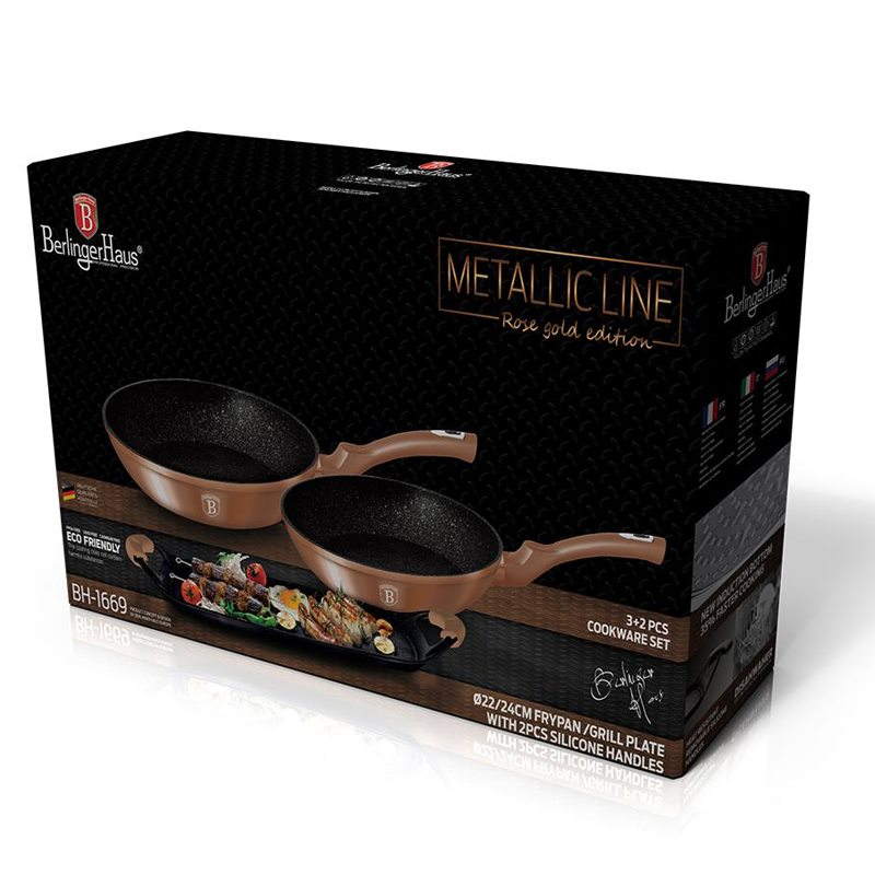 BERLINGER Metallic Line Rose Gold Edition Sada 3+2