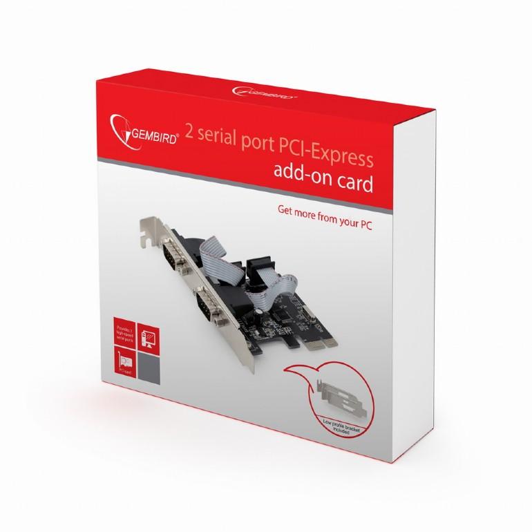 GEMBIRD PCIe karta 2x Sériový Port (COM Port)