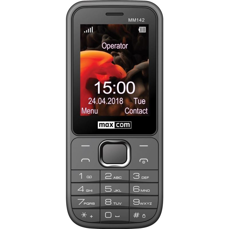 MAXCOM Telefón DUAL Sim MM142 šedý