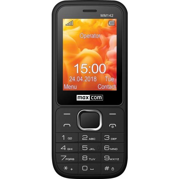 MAXCOM Telefón DUAL Sim MM142 čierny